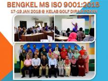 MS ISO 9001: 2015 Workshop