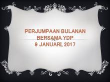 Program & Aktiviti MDP Sepanjang Januari 2017