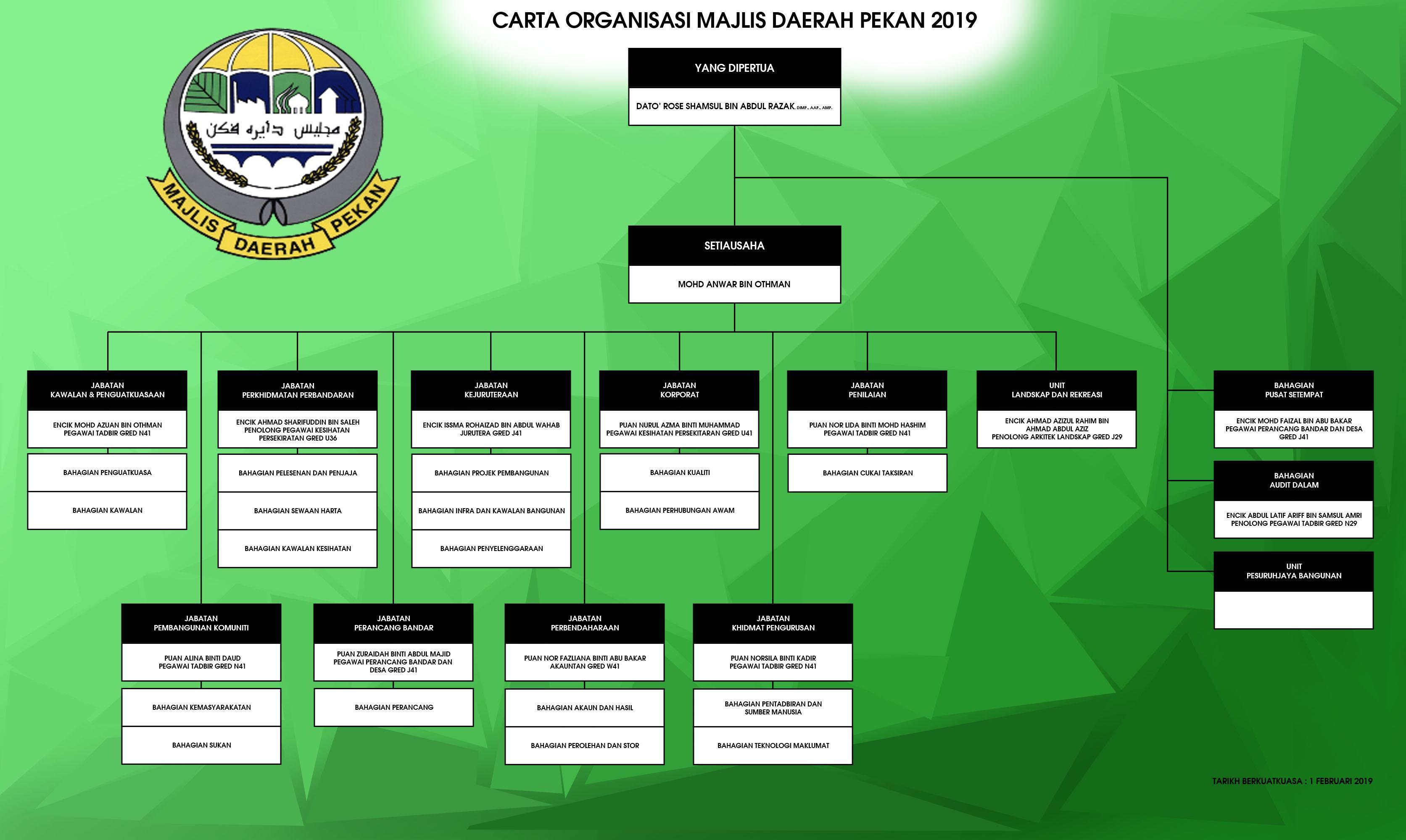 carta organisasi MDP